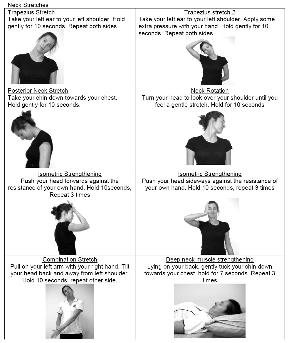 Neck Exercises - Active Lifestyle Physiotherapy